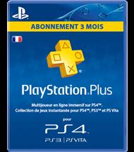 Abonnement PlayStation Plus 3 mois (FR)