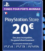 Carte PSN 20 euros FR