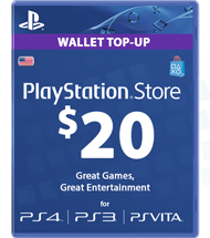 Carte Playstation Network 20 dollars
