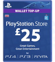 Carte Playstation Network £25 UK
