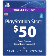 Carte Playstation Network 50 dollars