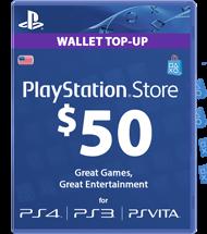 Carte Playstation Network 50 dollars