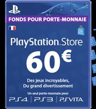 Carte PSN 60 euros FR