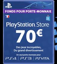 Carte PSN 70 euros FR