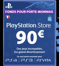 Carte PSN 90 euros FR