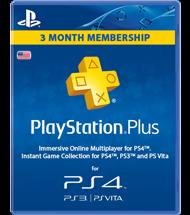 Abonnement PlayStation Plus 3 mois (USA)
