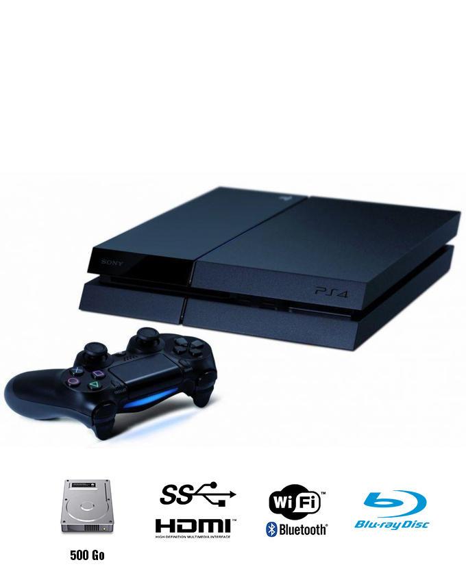 Sony Playstation 4 - PS4 Maroc - 500 Go - Noir