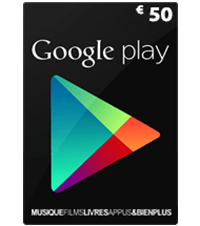 Carte Google Play 50 euros (FR)