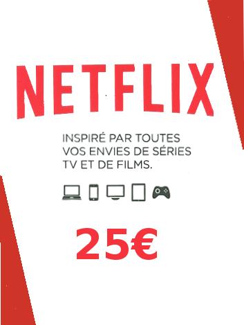 Carte Prépayée Netflix 25€